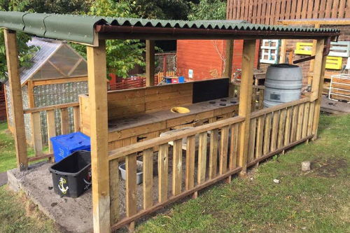 Happy Days Nursery Dalkieth Outdoor Kitchen